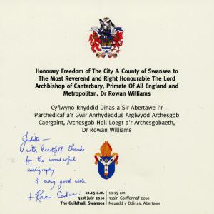 Archbishop note