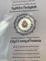 Royal Logistics Corps Freedom of the City - detail